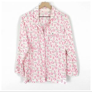 Victoria's Secret Love Logo Pajama Top